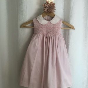 smocked cotton dress.